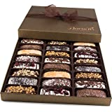 Barnetts Biscotti Cookies Gift Basket / Gourmet Food Italian Chocolate Biscotti / Unique Idea For Holiday Prime Corporate Gifts for Man or Woman, Thanksgiving, Christmas Baskets
