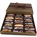 Barnetts Valentines Day Biscotti Cookies Gift Basket Prime Delivery / Gourmet Food Italian Chocolate Biscotti / Unique Idea For Him or Her, Mothers Day Corporate Gifts for Man or Woman, Love Baskets