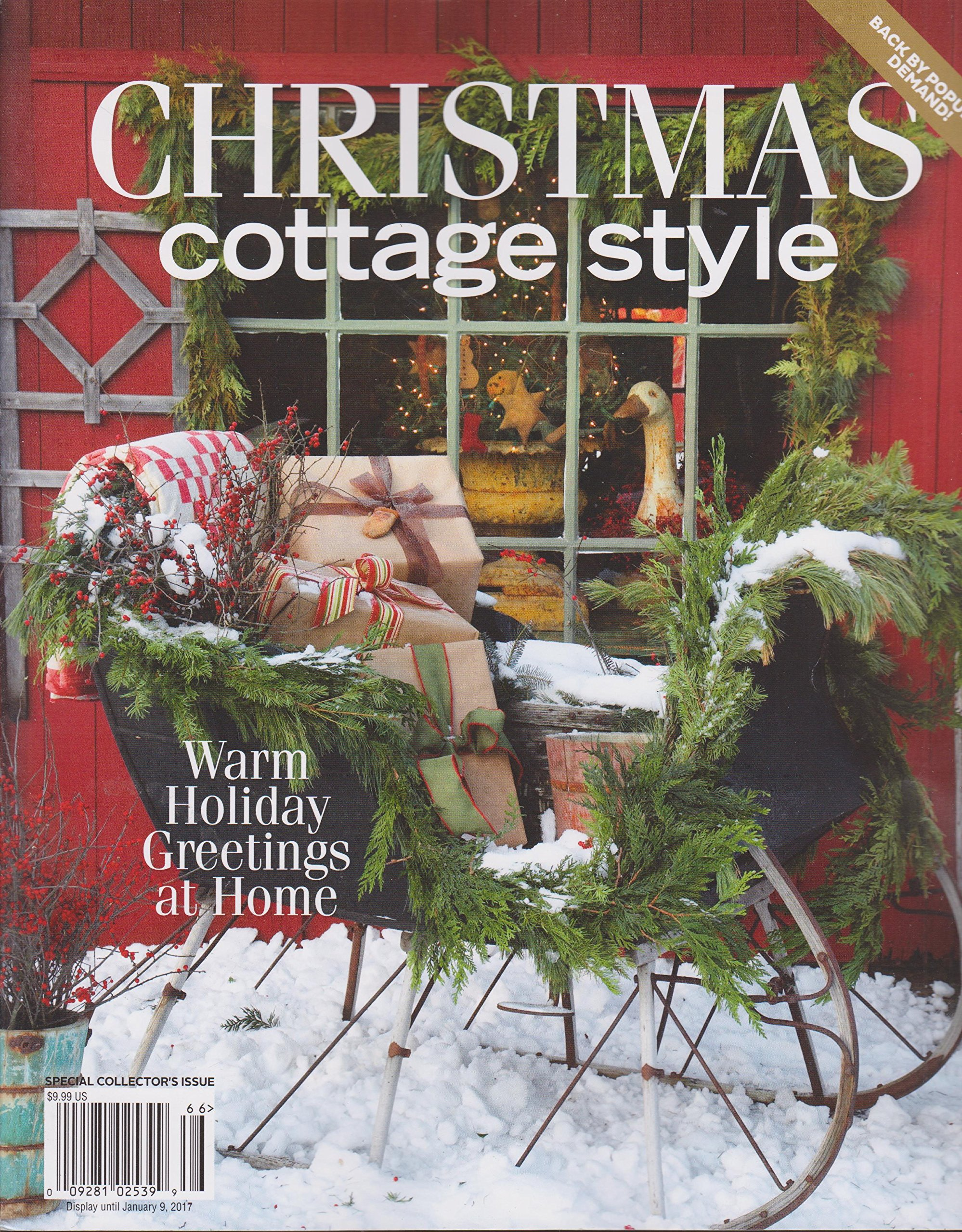Cool Christmas Cottage Style Magazine 2016 Amazon Com Books Home Interior And Landscaping Ymoonbapapsignezvosmurscom