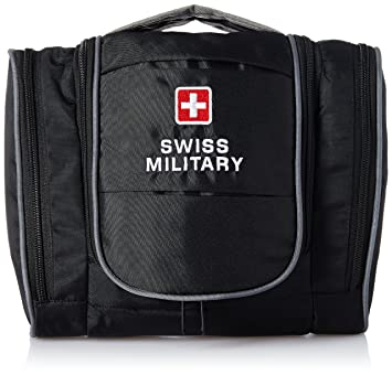 2151f52aae9a Swiss Military Black Toiletry Bag (TB-6)  Amazon.in  Bags