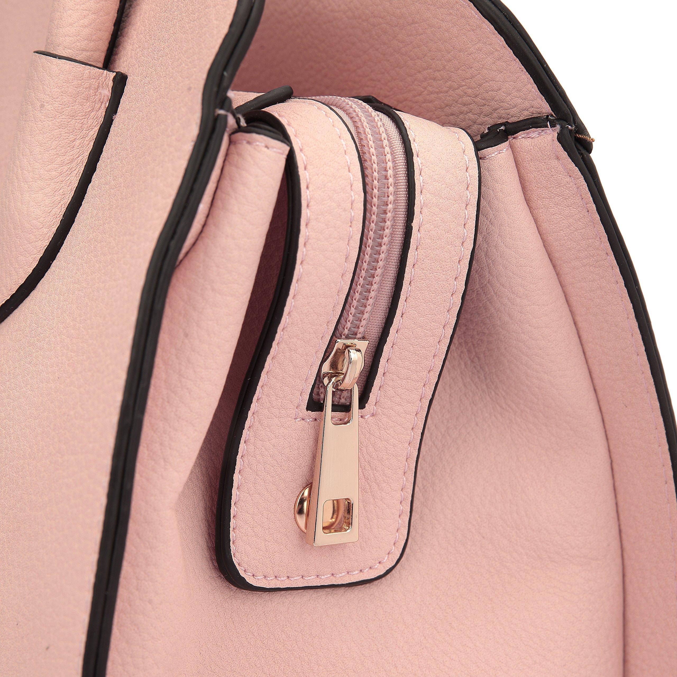 Women Structured Satchel Bags Vegan Leather Handbag Top Handle Purse Fashion Shoulder Bag with Fringed Tassel by Dasein (Image #7)
