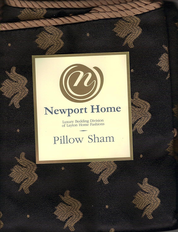 Newport Home Beaumont Onyx Euro Sham