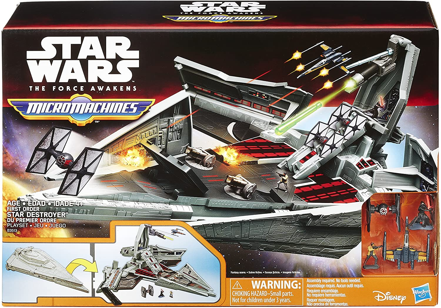 Star Wars Micro Machines First order The Force Awakens star destroyer
