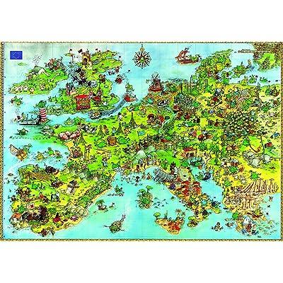 Heye- United Dragons of Europe, Degano (Triangular 4000 Pz) Puzle,, 11+ (HEYE-08854): Juguetes y juegos