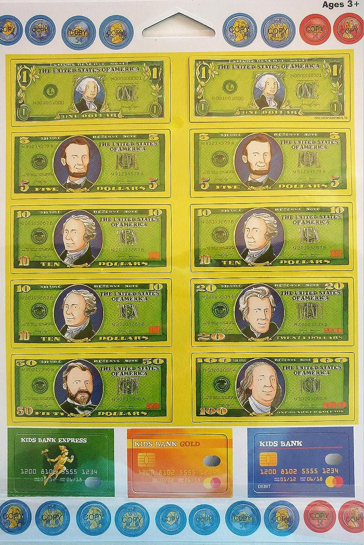 Magnetic Play Money-31 Pieces Dolgencorp