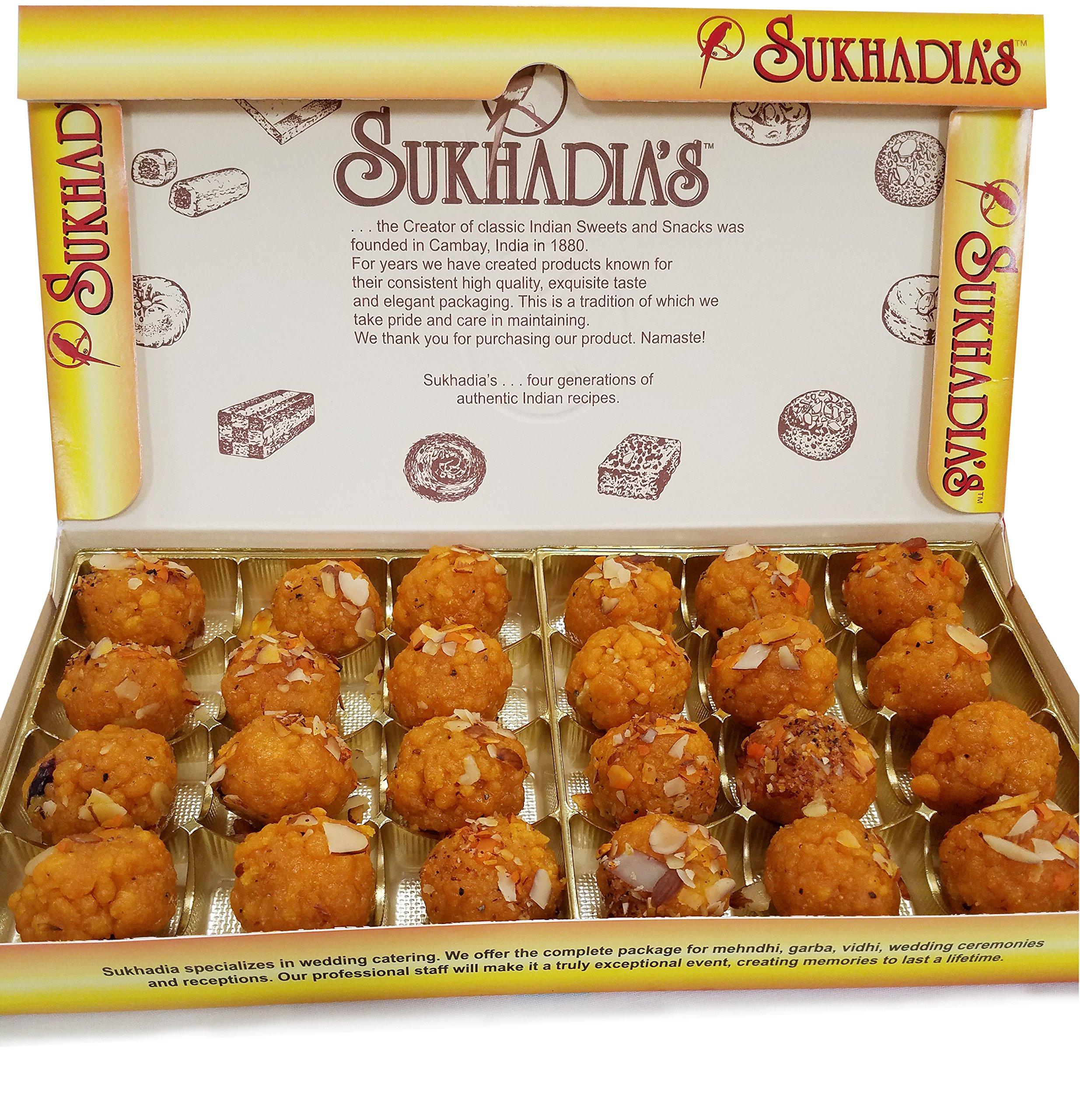 Sukhadia's Boondi Ladoo Indian Sweet, 2LB Box (32oz) by Sukhadia's
