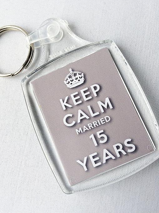Anniversario Di Matrimonio 15 Anni.Portachiavi Per Il 15 Anniversario Di Matrimonio Con Scritta In