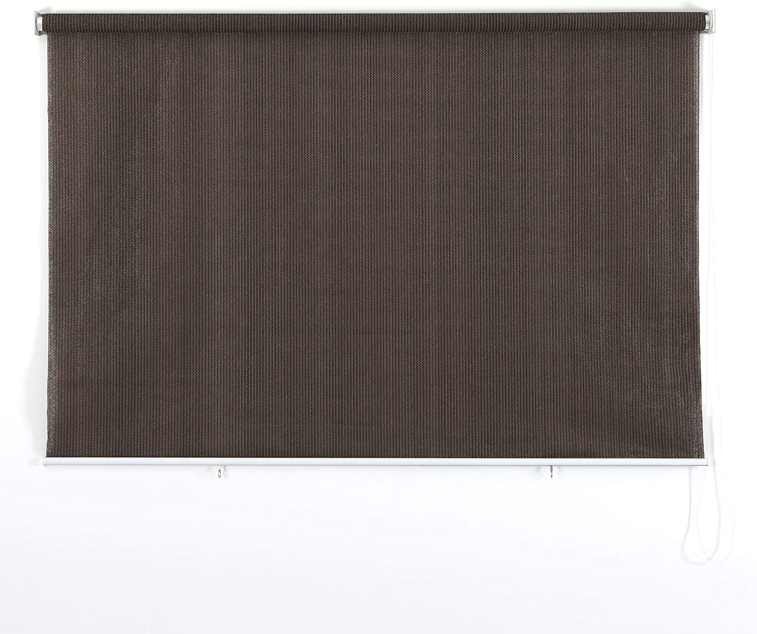PHI VILLA Outdoor Patio Sun Shade Roller Shade 8ft(W) by 6ft(H) Coffee