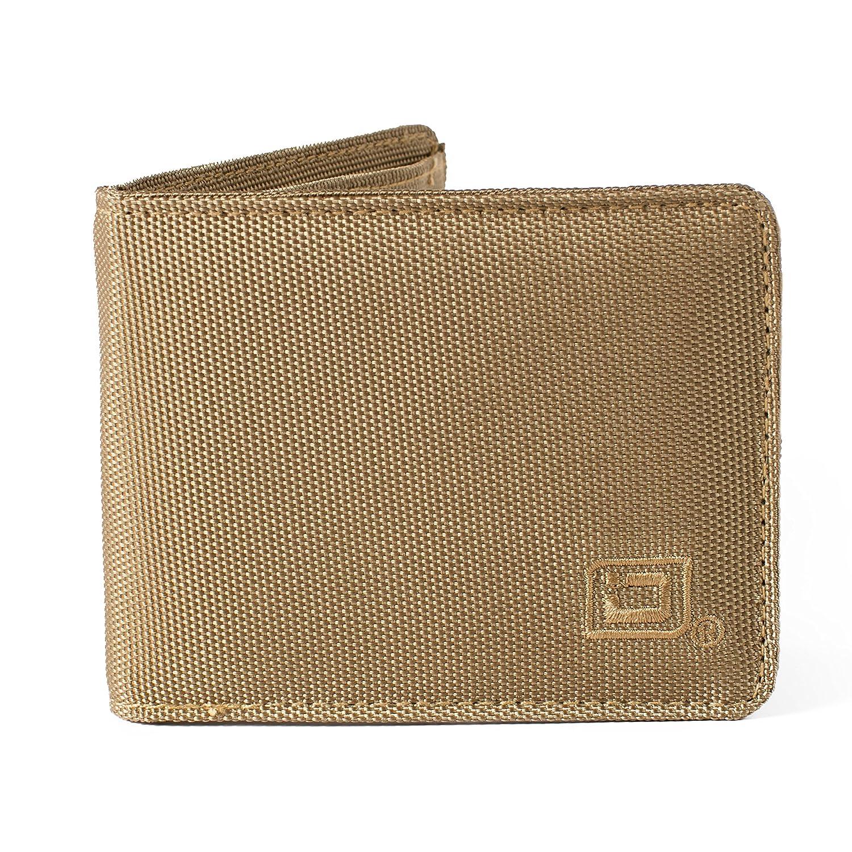 Cartera RFID Bifold 6 ranuras - RFID Nylon Carteras - Carteras protectoras para hombres - Topes electrónicos Pickpocketing - Beige - talla única: Amazon.es: ...