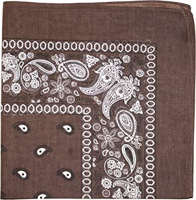 Mechaly Paisley Bandanas 100% algodón - Marrón - 22: Amazon.es ...