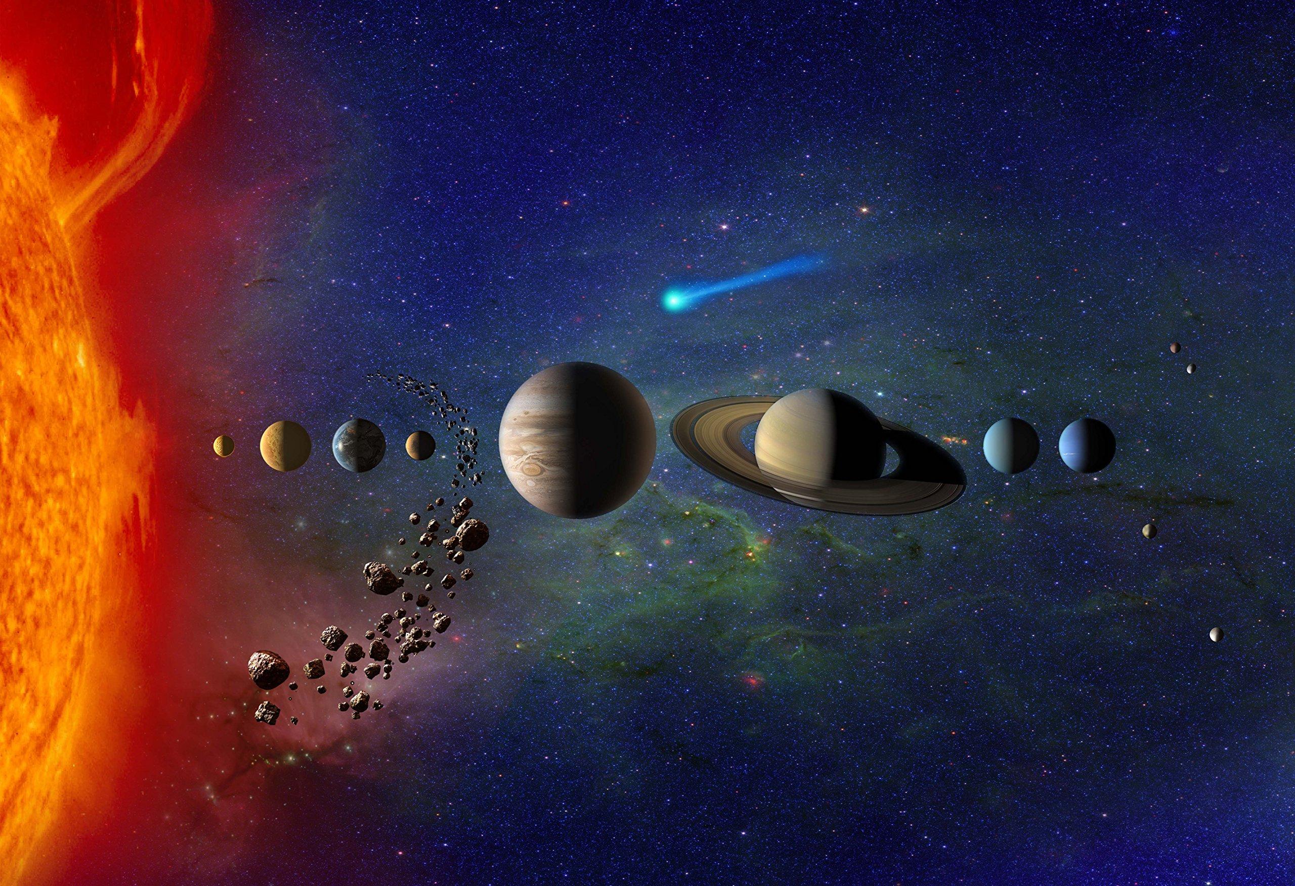 New Horizon Aviation, LLC Our Solar System Hi Gloss Space Poster Fine Art Print