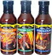 Walden Farms Calorie Free Sugar Free Carb Free Original, Hickory Smoked and Honey Barbecue Sauce (3 Bottles)