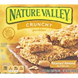 Nature Valley Crunchy Granola Bars, Roasted Almond, 21g (Pack of 12)