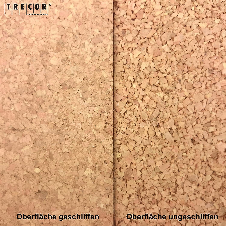 lato singolo 1000 mm/x 500/mm; spessore: 2-20 mm; di alta qualit/à in sughero foglio per bacheca in sughero flessibile e antistatico per una miglior resa Trecor