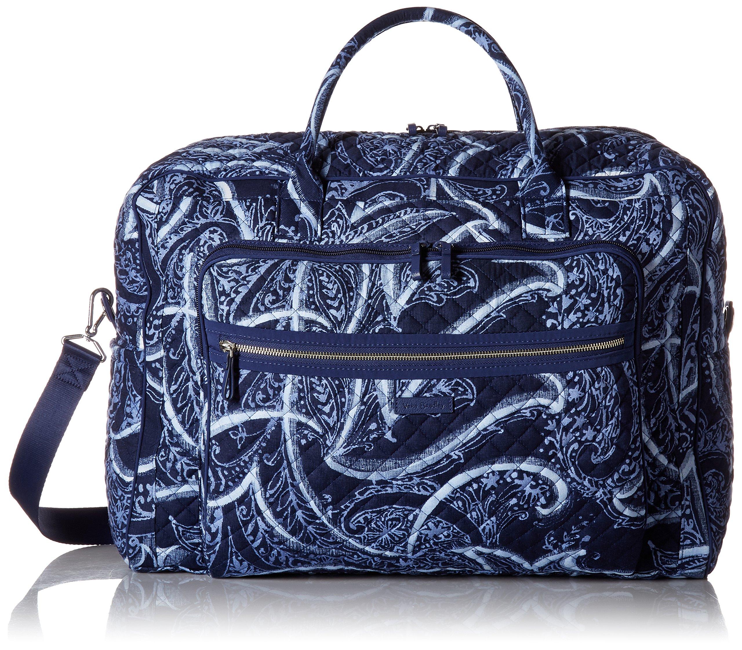 Vera Bradley Iconic Grand Weekender Travel Bag, Signature Cotton, Indio