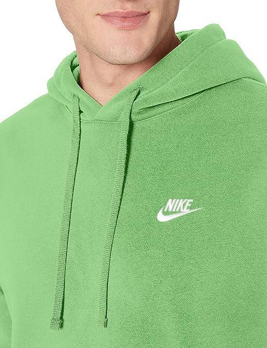 Nike sportswear club fleece, felpa con cappuccio uomo, rosso university redwhite, l