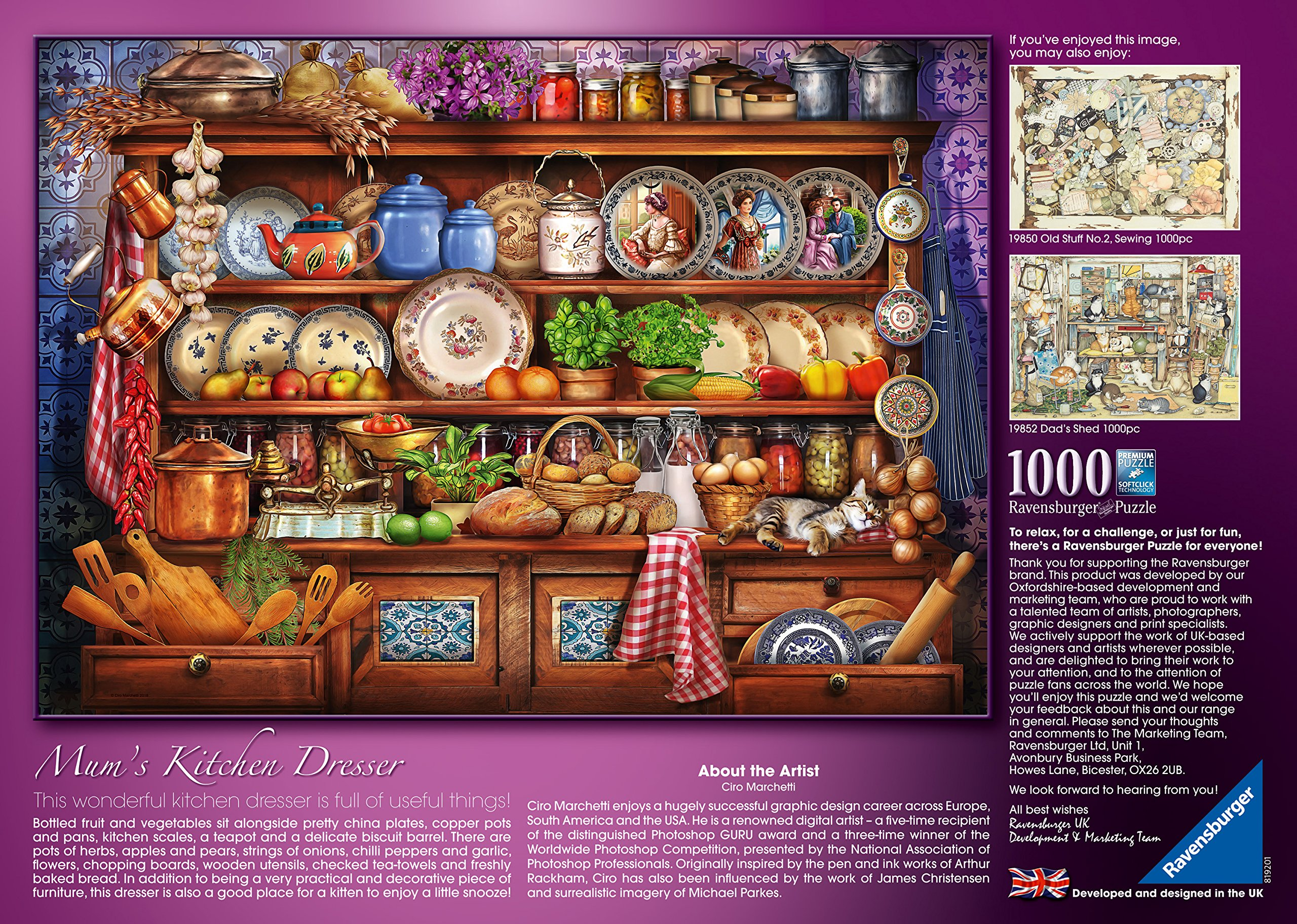 Ravensburger 19850 High Quality Old Stuff No.1 Sewing 1000 Pieces Jigsaw Puzzle