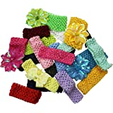 Set of 12 Fun Colored Wide Headbands by CoverYourHair