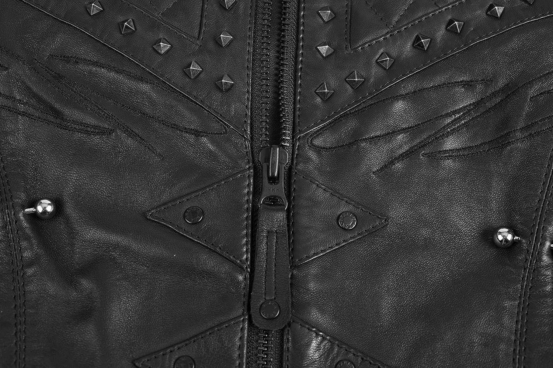 Black, Small Black Brand Womens Leather Brazilian Waxed Motorcycle Jacket