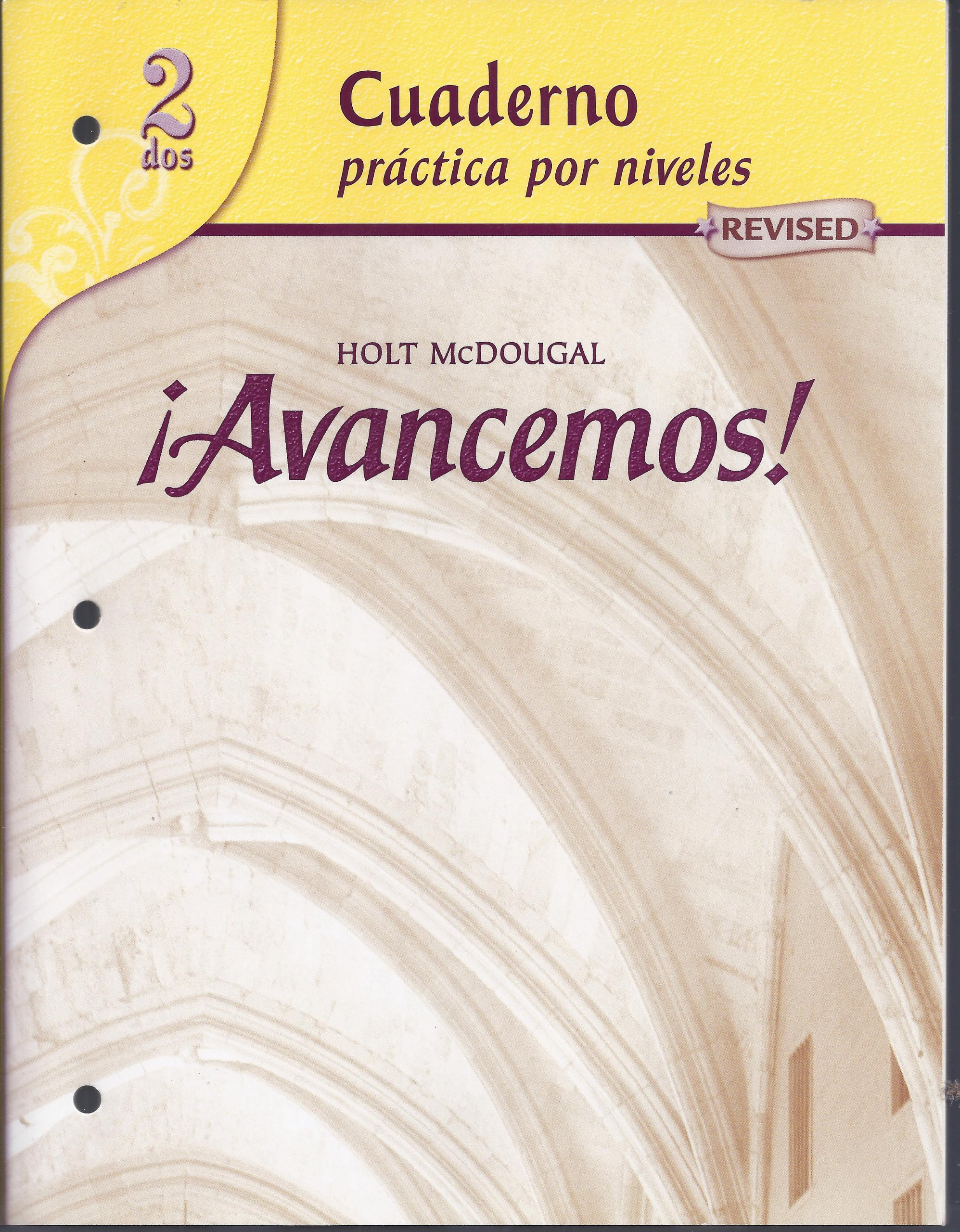 Avancemos cuaderno practica por niveles 2 revised spanish edition avancemos cuaderno practica por niveles 2 revised spanish edition mcdougal littel 9780618765942 amazon books fandeluxe
