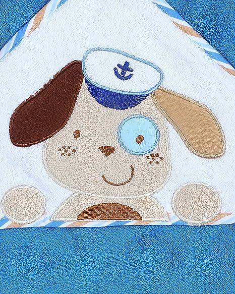 Bobobaby Bebé Toalla de Baño con Capucha 100% Algodón 100 x 100cm(Dog)