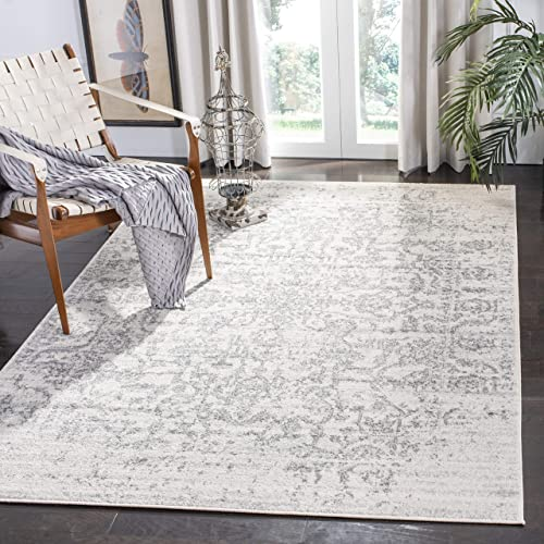 Safavieh Madison Collection MAD603G Silver and Ivory 10' x 14' Area Rug