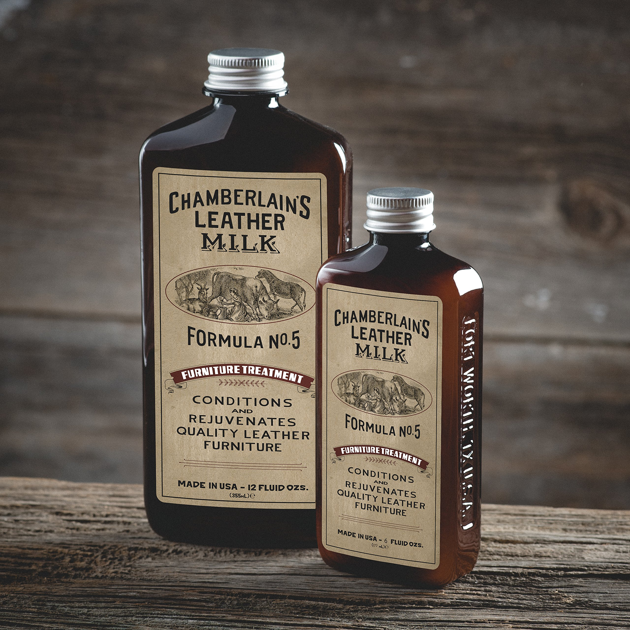 Leather Milk Leather Furniture Conditioner and Cleaner - Furniture Treatment No. 5 - For All Natural, Non-Toxic Leather Care. Made in the USA. 2 Sizes. Includes Premium Applicator Pad! by Chamberlain's Leather Milk (Image #9)