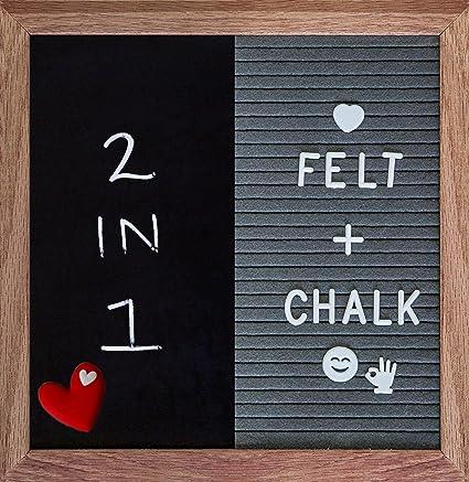 Tabla de letras de fieltro y pizarra (2 en 1) mensajes ...