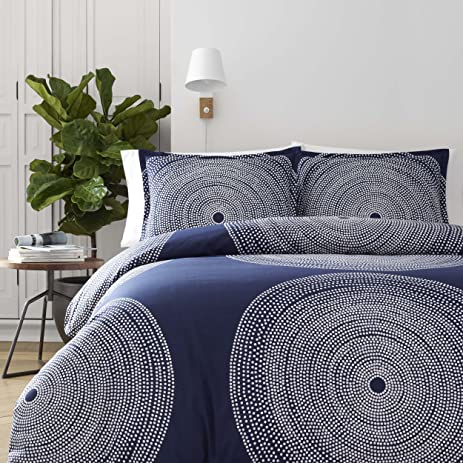 cover blue white geranium marimekko nile full set kurjenpolvi duvet queen