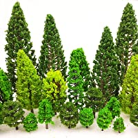 MOMOONNON 36 Pieces Model Trees 1.36-6 inch Mixed Model Tree Train Scenery Architecture Trees Fake Trees for DIY Crafts…