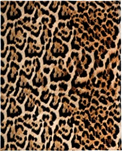 Leopard Print Throw Blanket, Adorable Super-Soft Extra-Large Leopard Blanket for Women, Girls, Teens and Children, Cute Fleece Leopard Blanket (50in x 60in) Warm and Cozy Throw for Bed, Crib, or Couch