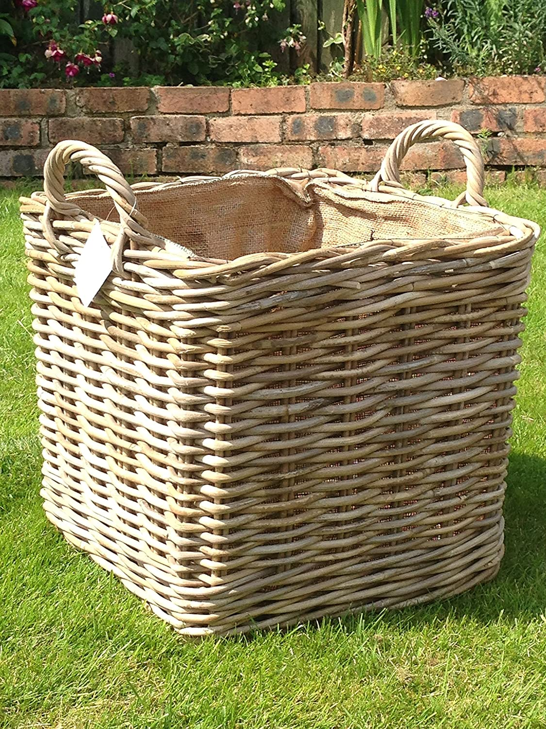 Very Strong Excellent Quality Lined Square Log Basket / Storage Basket:  Amazon.co.uk: Kitchen U0026 Home