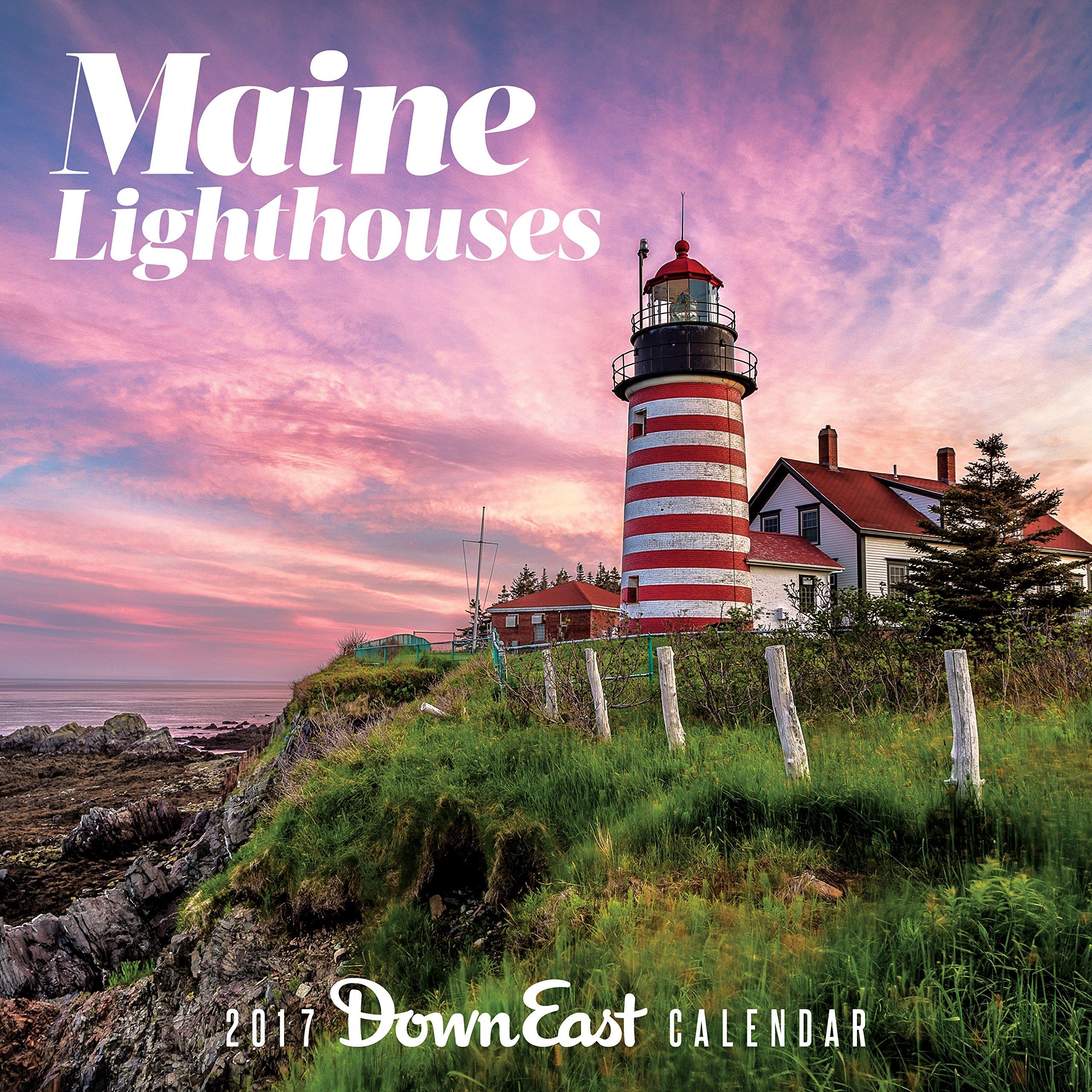 2016 maine lighthouses down east wall calendar