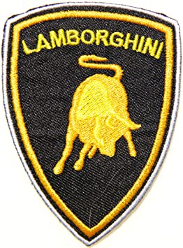 Lamborghini Racing Car Logo Patch Sew Iron On Applique Embroidered T