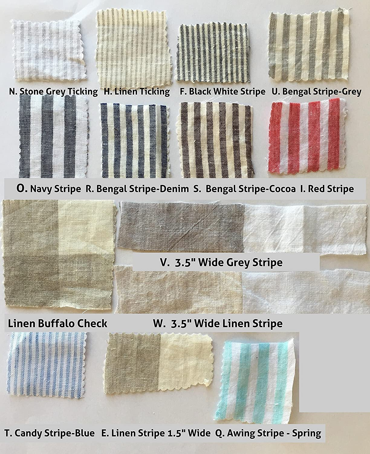 Here s just a sample of the buffalo check fabric options from fabric - Amazon Com Linen Swatches Linen Fabric Swatch Full Color Cataglogue For Our Linen Bedding Linen Baby Bedding Linen Home Products Full Credit Towards