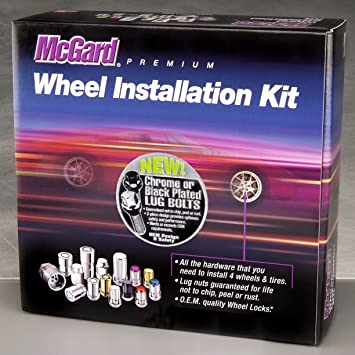 For 5 Lug Wheels M12 x 1.5 Thread Size McGard 84537 Chrome Bulge Style Cone Seat Wheel Installation Kit