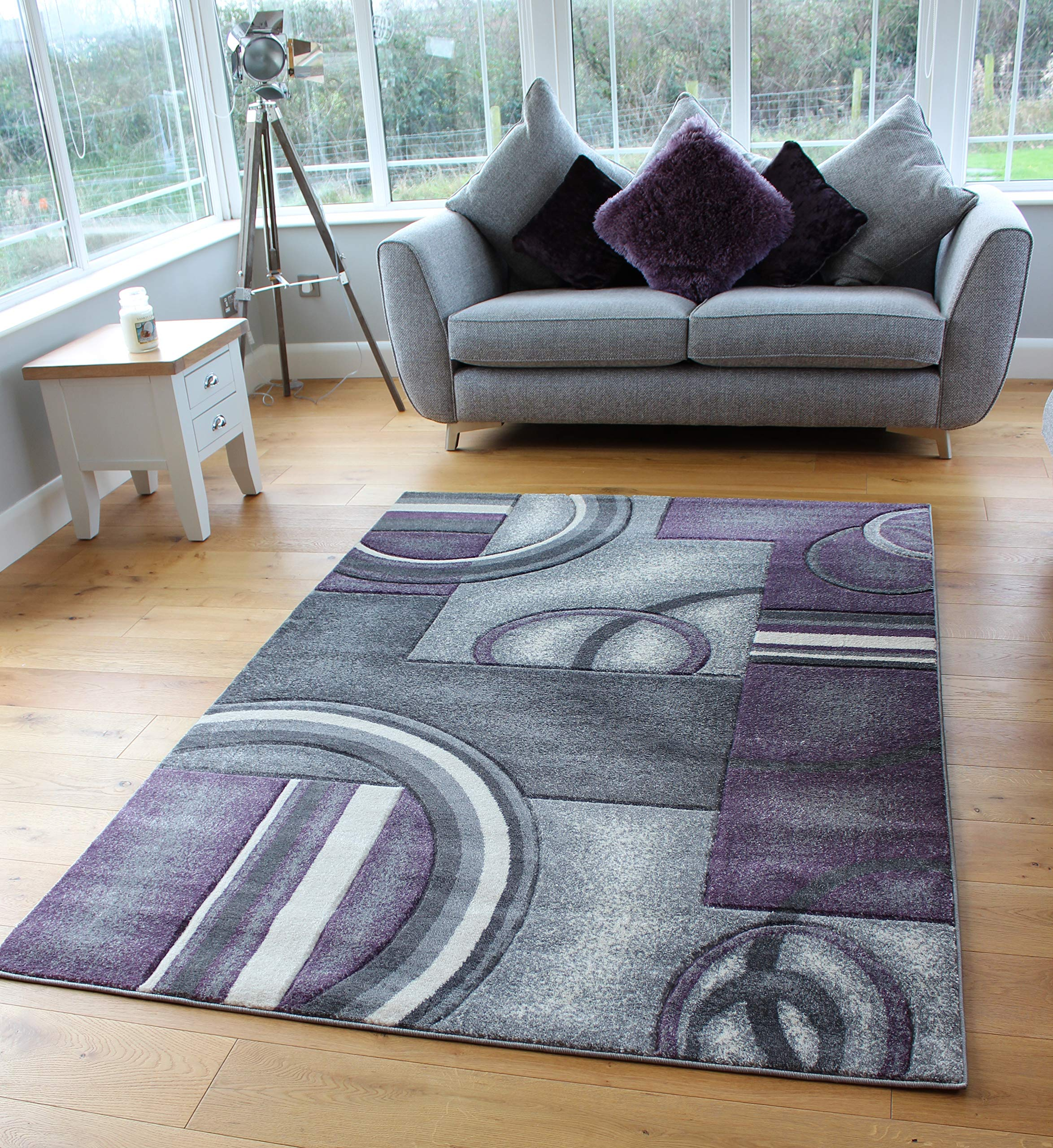 New Large Small Modern Design Soft Grey Silver Runner Rugs Hallway Rug Carpets