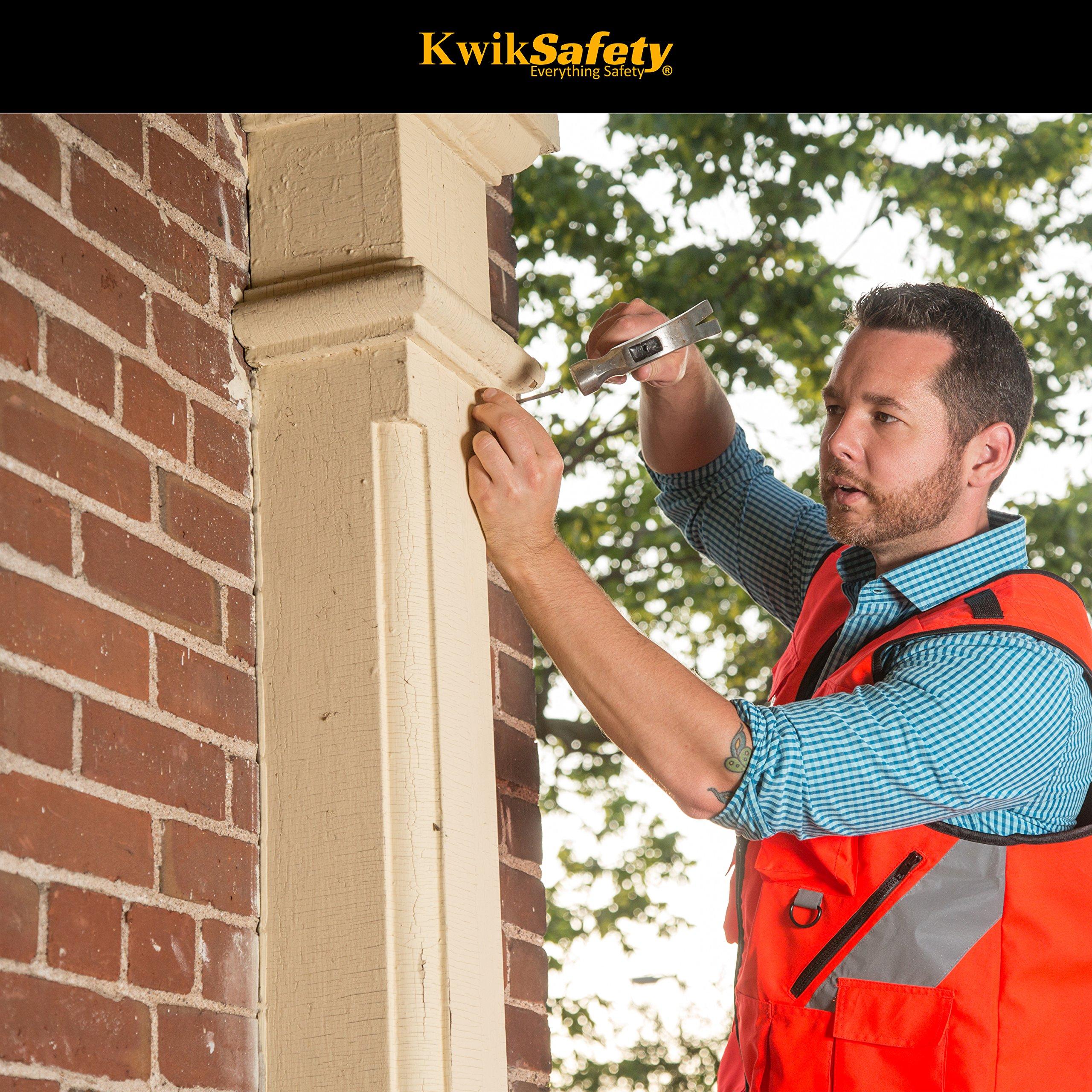 KwikSafety (Charlotte, NC) ARTISAN Tool Vest | Reflective Multi Pocket Lightweight Work Wear | Hi Vis Volunteer Emergency Crew Surveyor Carpenter Electrician Engineer | Men Women Regular | 4XL/5XL by KwikSafety (Image #10)