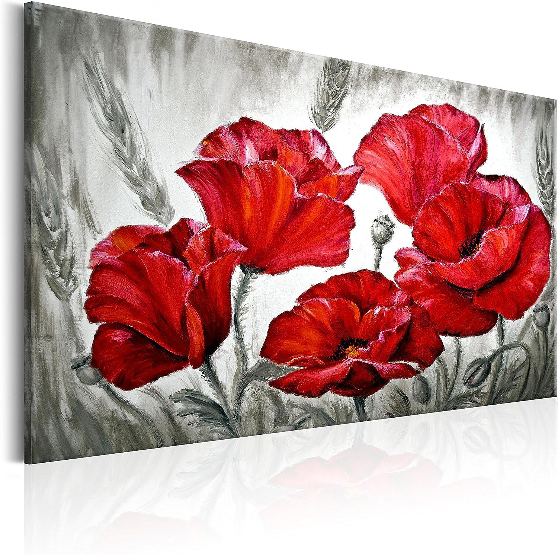 murando - Cuadro 120x80 cm - Flores - Impresion en Calidad fotografica - Lienzo Tejido no Tejido - Amapola - Rot b-B-0163-b-a