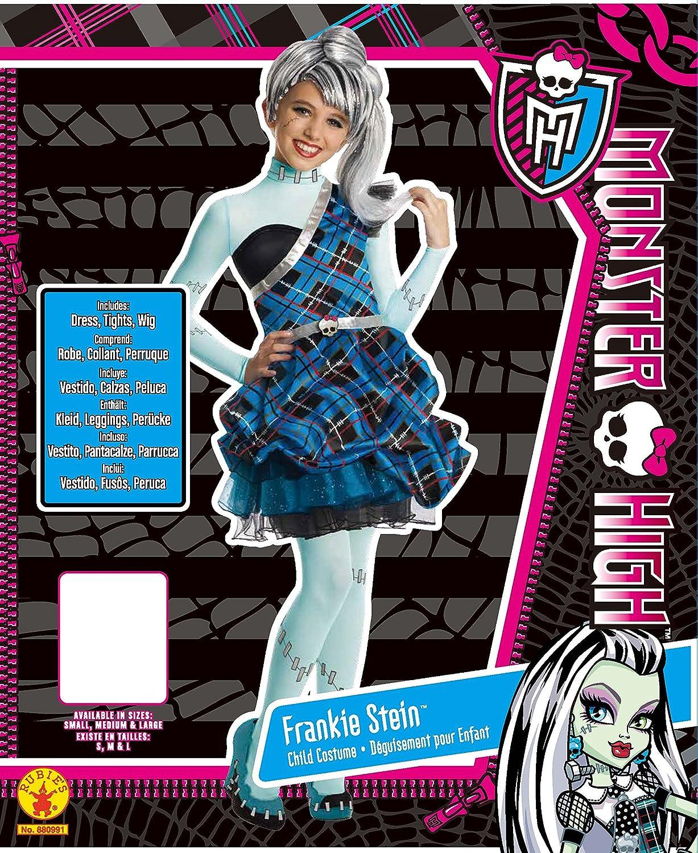 Rubies - Disfraz para niña con diseño Monster High Frankie Stein, talla L (3880991): Amazon.es: Juguetes y juegos