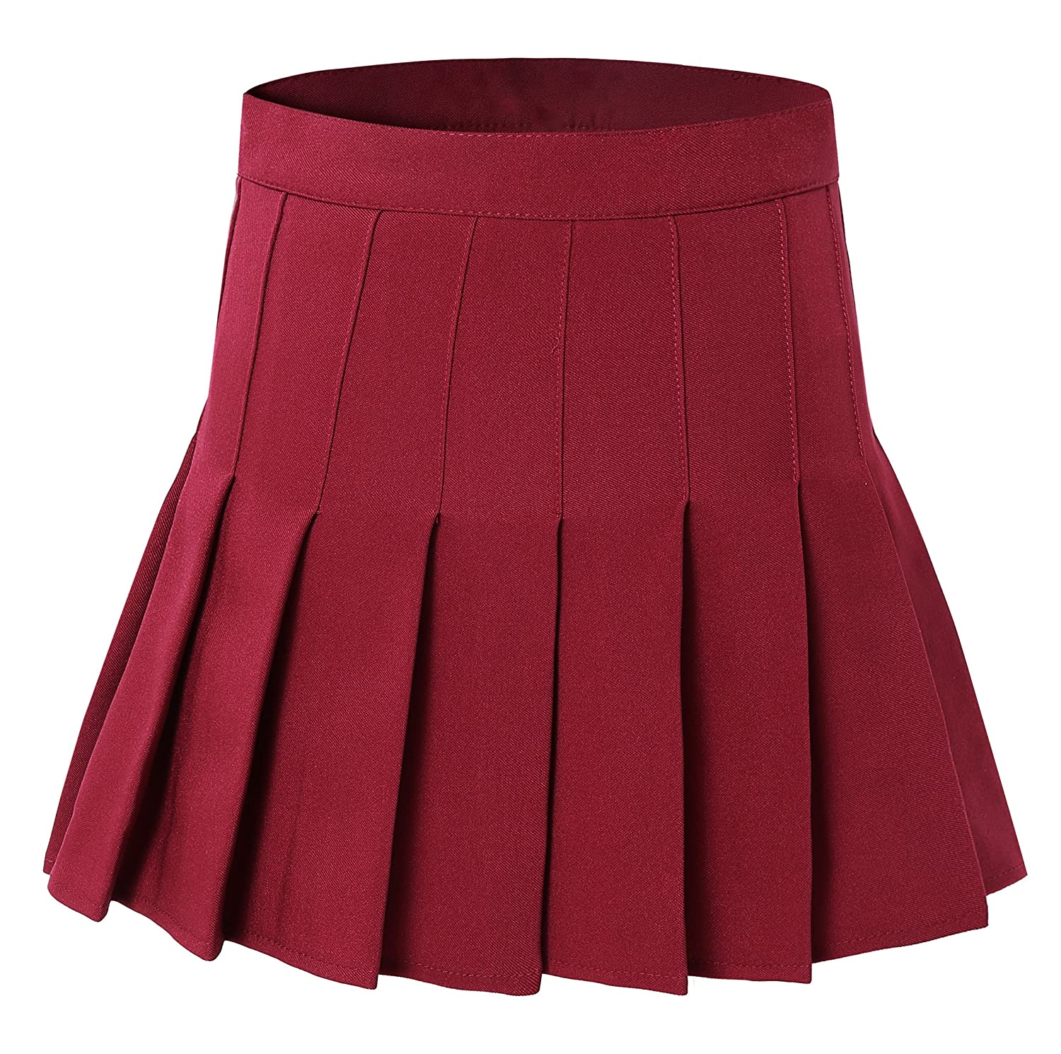 1732ea48c Amazon.com: Tremour Women High Waist Pleated Mini Tennis Skirt Solid Short  Skirts: Clothing