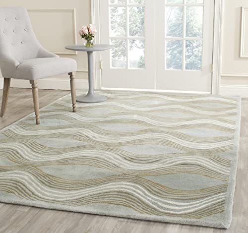Safavieh Wyndham Collection WYD318A Handmade Blue and Multi Wool Area Rug
