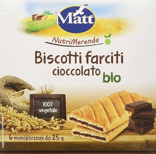 7 opinioni per Matt Nutrimerenda Biscotti Farciti Cioccolato Bio- 150 gr