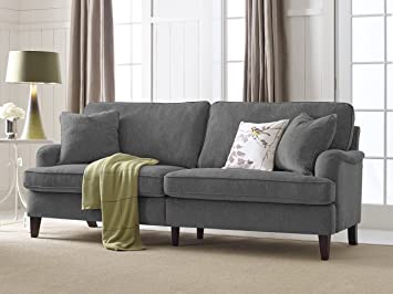 Serta Carlisle 85u0026quot; Sofa With Pleated Arms ...