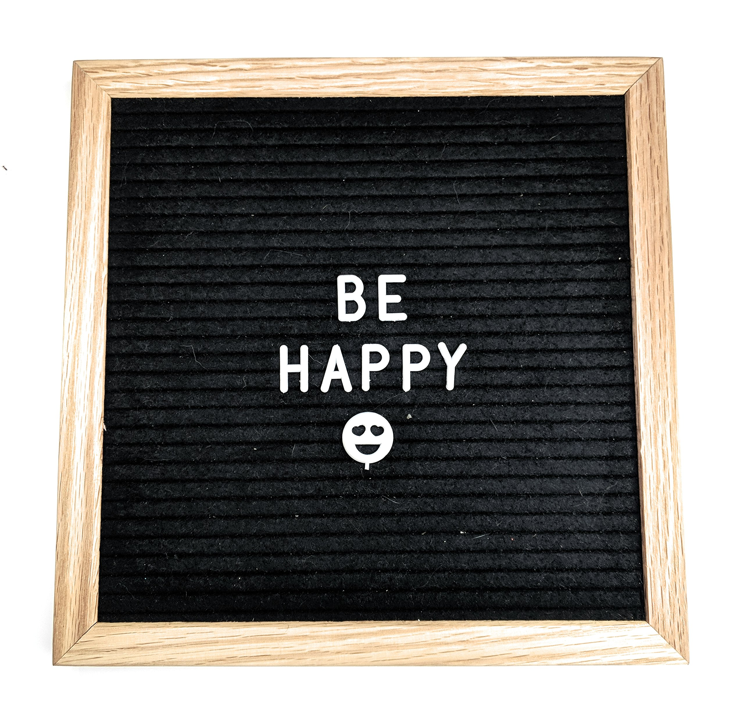 Open-Faced Changeable Felt Letter Board With Sturdy Wooden Frame, Free Canvas Bag, Pre-Installed Wall Mount, And 340 Characters Including, Punctuation, Numbers, Emojis, and Symbols By Adept Concepts