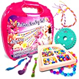 Jewelry Making Kit Fashion Studio Set - Make Your Own Bead Necklace, Bracelet & Jewelry Kits - Beading Station with Design Storage Case - DIY Arts and Crafts for Girls