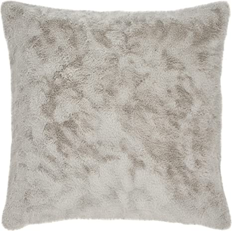 Amazon Com Amazon Brand Stone Beam Modern Soft Faux Fur Throw Pillow 20 X 20 Inch Grey Home Kitchen