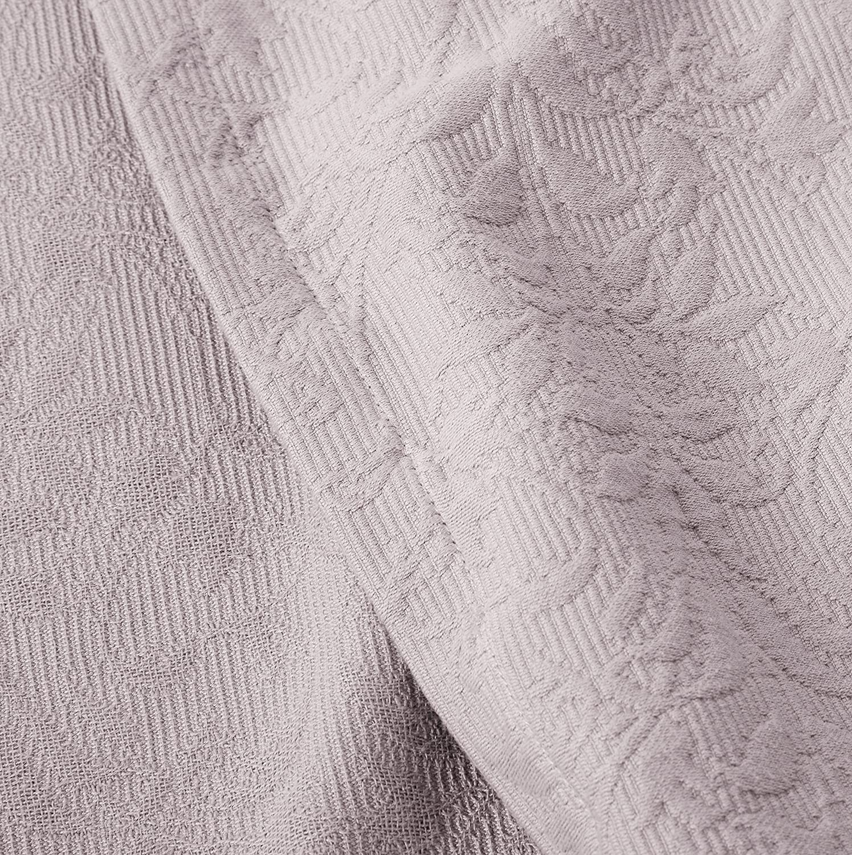 Twin Pinzon Ivy Matelasse Cotton Coverlet Ivory