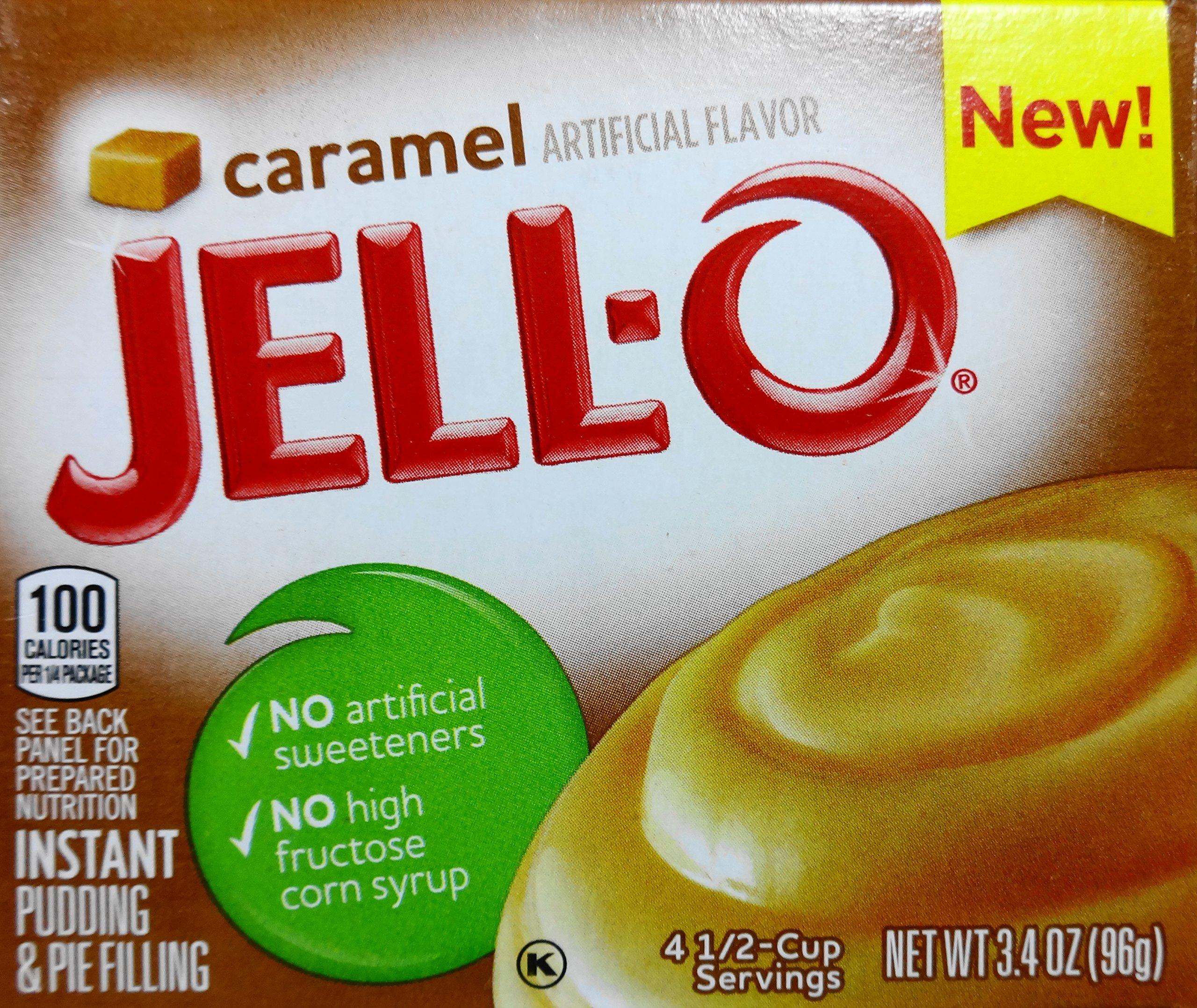 Jell-O Caramel Instant Pudding, 3.4 Oz (96g) (4 Pack)