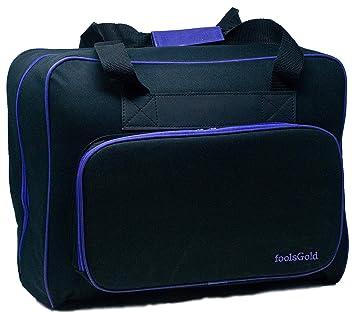 foolsGold Bolsa Acolchada para Transportar la Máquina de Coser (Negro/Púrpura): Amazon.es: Hogar